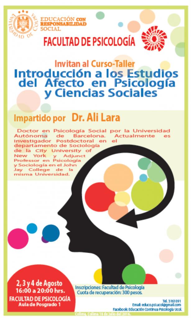 CARTEL Psicologia Dr. Ali Lara